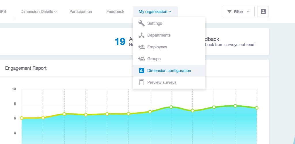 Dimension configuration in Team Insights